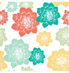 flower seamless pattern cactus flowers vector image