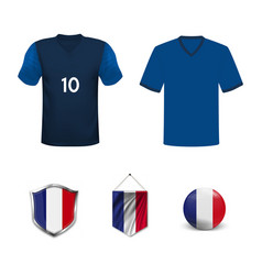 France football jersey abstract image vector
