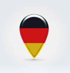 German icon point for map vector