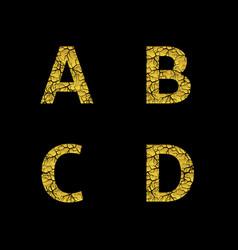golden broken letters vector image