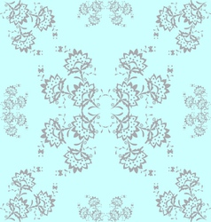 Gray Flowers vector