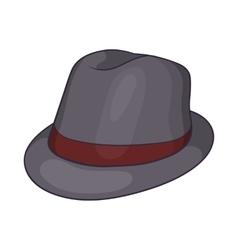 Gray hat icon cartoon style vector