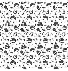 halloween seamless pattern design for vector image