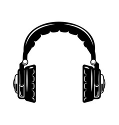 headphones isolated on white background design vector image