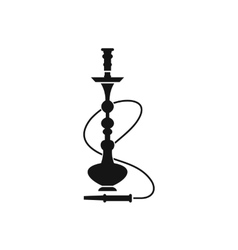 Hookah icon black simple style vector