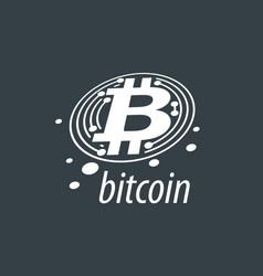 icon bitcoin vector image