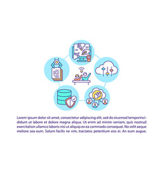 Ict for participation in civic society concept vector