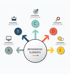 infographic design with icon for business vector image