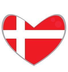 Isolated Danish flag vector