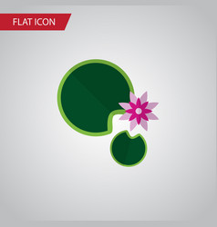 isolated water lily flat icon lotus vector image