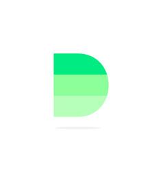 logo letter d green energy battery vector image