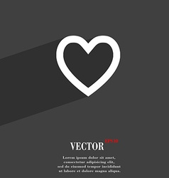 Medical heart Love icon symbol Flat modern web vector