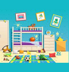 messy children room interior vector image