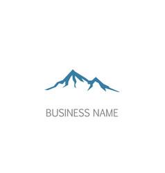 mountain landscape logo vector image