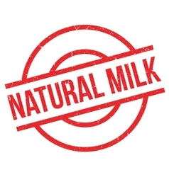 Natural milk rubber stamp vector image
