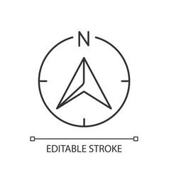Navigator arrow pixel perfect linear icon vector