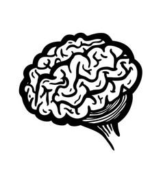 Painted brain vector