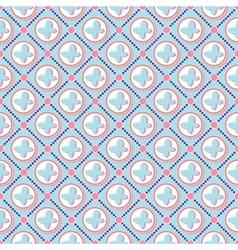 Pink butterfly pattern art vector