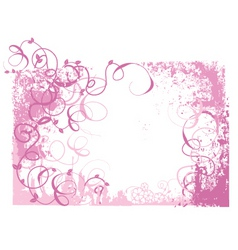 pink grunge vector image