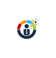 Pixel job logo icon design vector