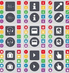 Pulse Information Microphone Headphones Calendar vector image