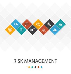 Risk management trendy ui template infographics vector