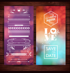 save date wedding and love icons vector image