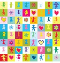 seamless kids vector image