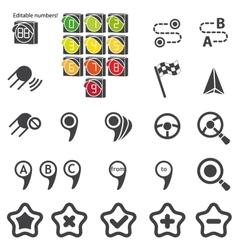 Set navigational icons vector