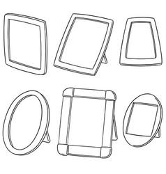 Set of photo frame vector
