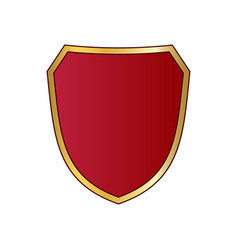 shield gold red icon shape emblem vector image