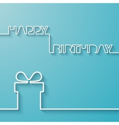 silhouette text and giftbox on a light blue vector image
