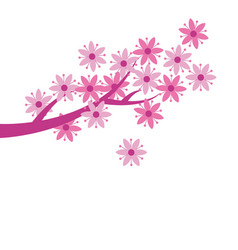 Simple naive pink color sakura blossom primitive vector