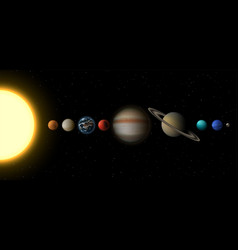 solar system infographic planets and sun vector image