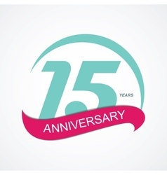 Template Logo 15 Anniversary vector image