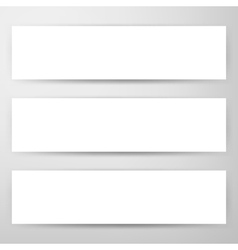 Three Horizontal Web Banners Mockup vector image