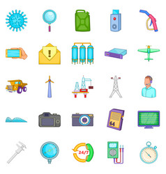 Thrift icons set cartoon style vector