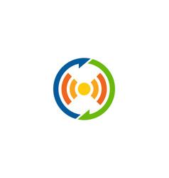 Transfer wifi logo icon design vector