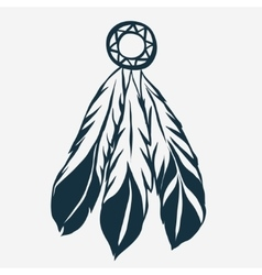 Tribal Feathers dreamcatcher vector