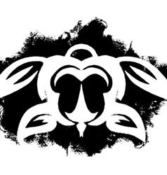 Tribal turtle design vector