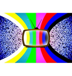 TV card with color table vector