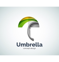 Umbrella logo template vector