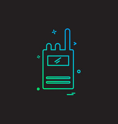 walkie talkie icon design vector image