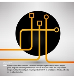 Ways of solution circle company symbol design vector image