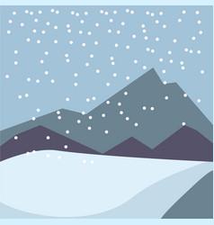 Winter snow four seasons nature landscape vector