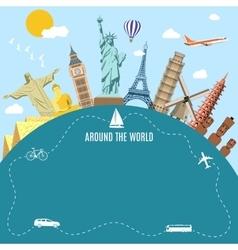 World Travel Planning summer vacations vector image