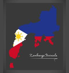 Zamboanga peninsula map of the philippines with vector