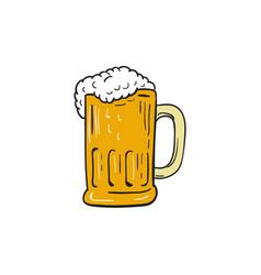 beer mug drawing vector image vector image
