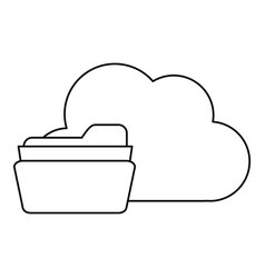 File folder and cloud storage related icon image vector