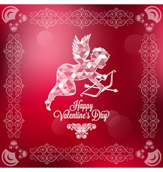 holiday frame happy valentines day vector image vector image